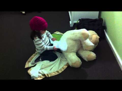 Cleaning Teddy's Bum.MOV