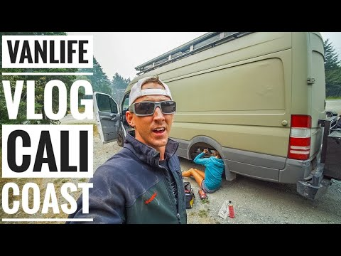 Roadside Repairs and Wildfires on the CA Coastal Highway - #Vanlife Vlog | Adventure in a Backpack