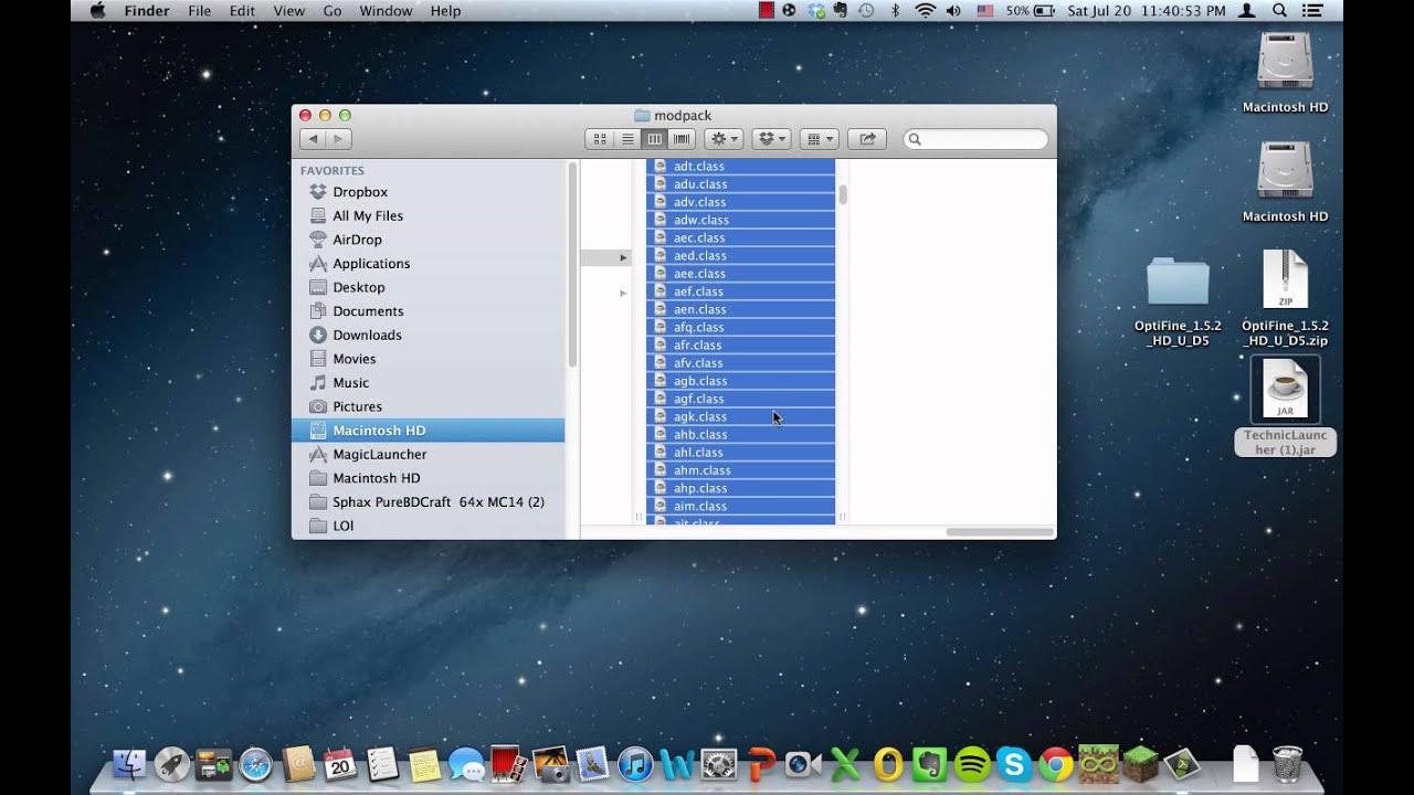 installer optifine 1.5.2 sur mac