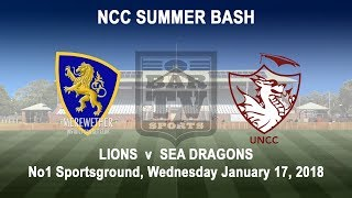 2018 NCC Summer Bash - Lions v Sea Dragons