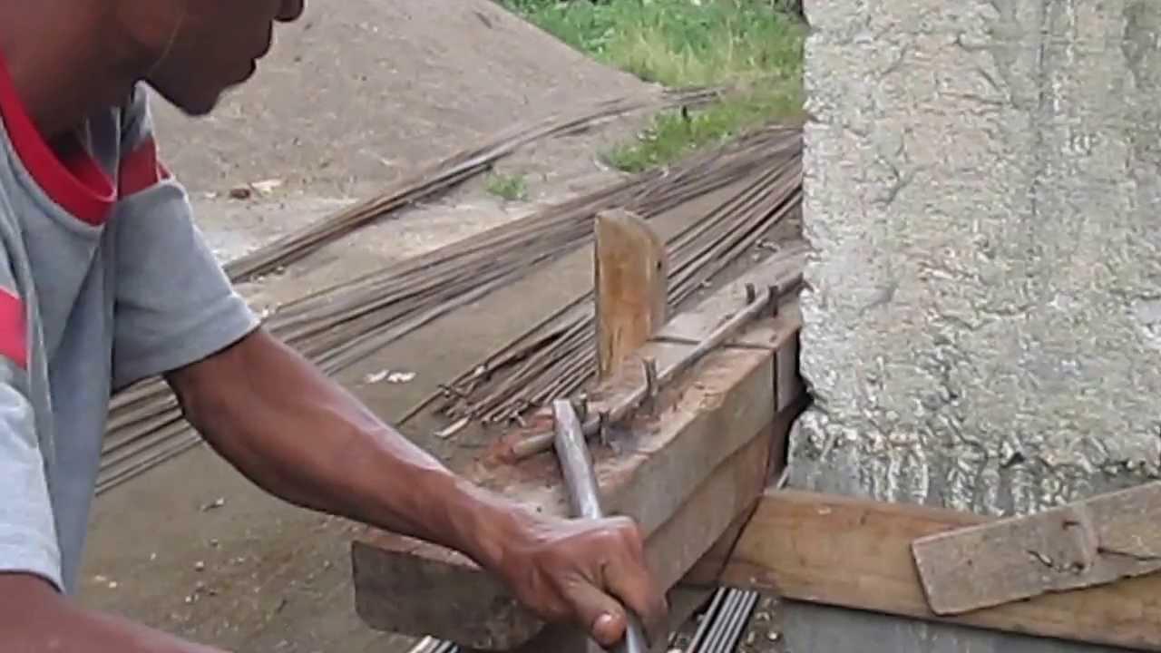 cara mudah membengkokkan besi baja  how to easily bend