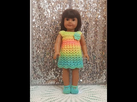 Easy Crochet American Girl Dress Tutorial
