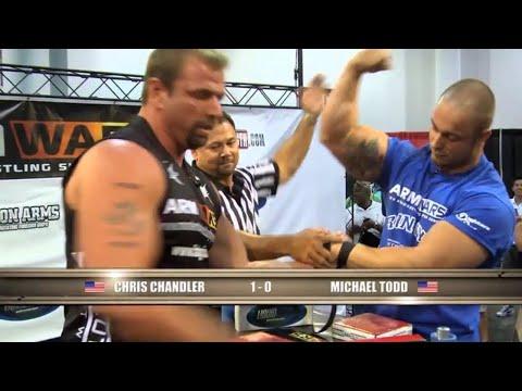 Arm Wars | Arm wrestling | Chris Chandler USA v Michael Todd USA | Left