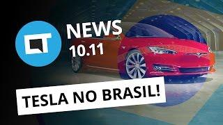 Tesla no Brasil, smartphone curvo da Samsung, iPhone 8 carregando no bolso [CT News]