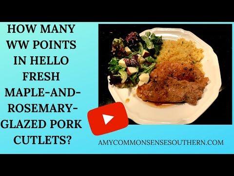 calculating-ww-points-in-hello-fresh-rosemary-maple-glazed-pork-cutlet