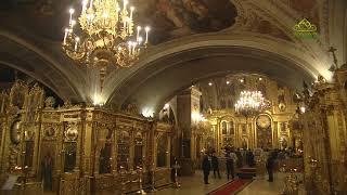Утреня с пением акафиста. Прямая трансляция. Богоявленский кафедральный собор (Москва)