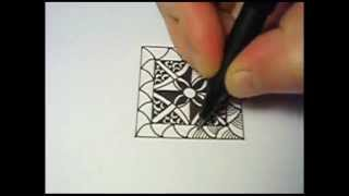 A Simple Square Zentangle