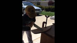 Apprentice Carpenter Wilson Sawing 2014 05 10