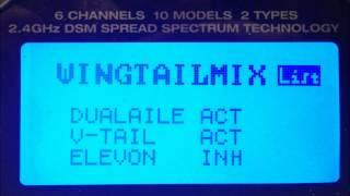 Querruder als Landehilfen auf Spektrum DX6i einrichten.