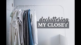 Simplifying my closet | Plan Project 333 With Me | Capsule Wardrobe