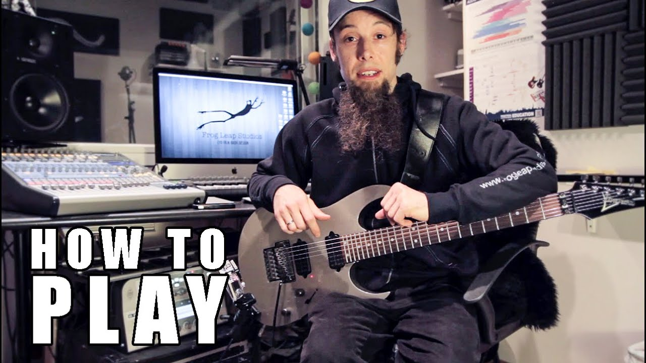 how to play chandelier metal cover by leo moracchioli youtube