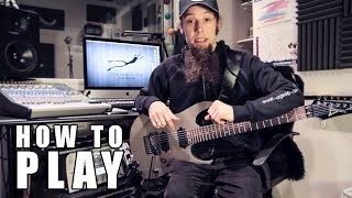 How To Play Chandelier (metal cover by Leo Moracchioli)