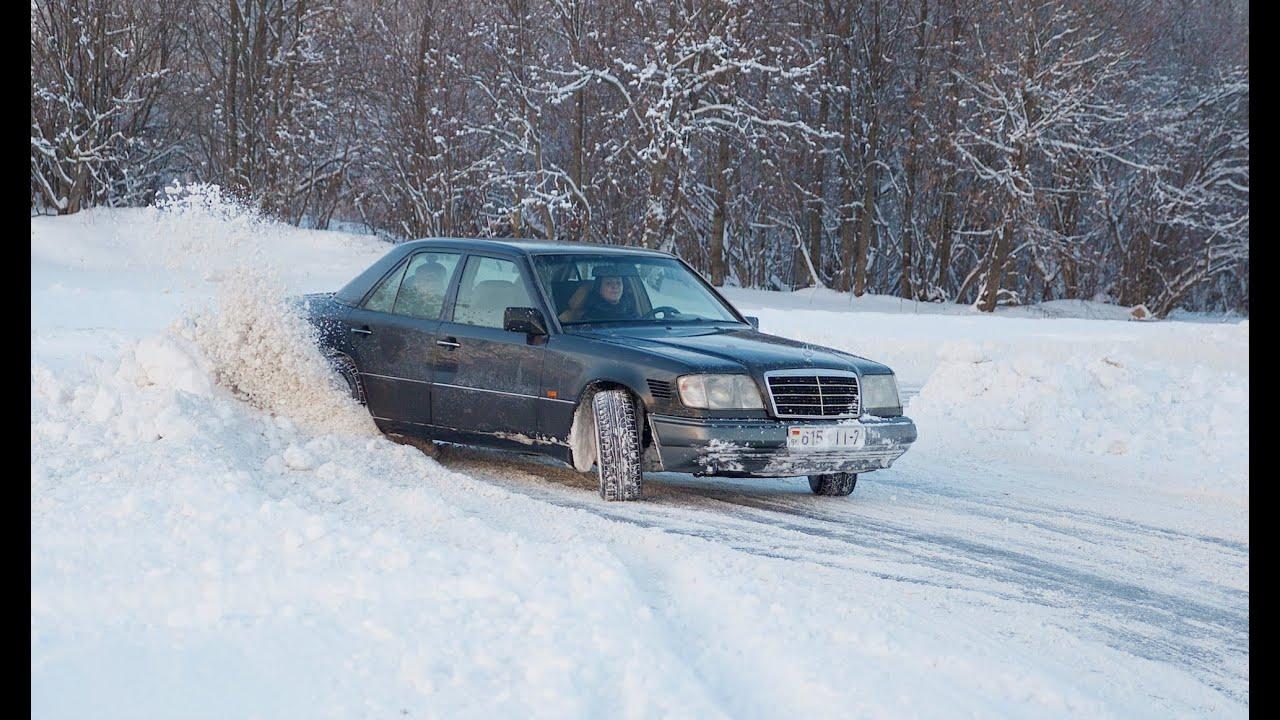 Дрифт Mercedes-Benz W124 | Winter Drift Moments | BatusW124