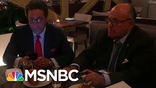 See Photos Of Indicted Giuliani Associate Celebrating With Trump Lawyer | MSNBC