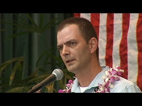 Brian Evans at Hawaii County Democratic Convention in Hilo