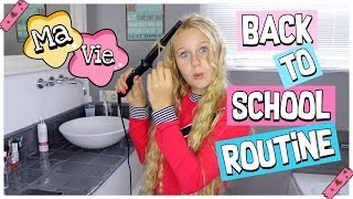 MEINE BACK TO SCHOOL MORGENROUTINE Schule | MaVie Noelle Routine Family
