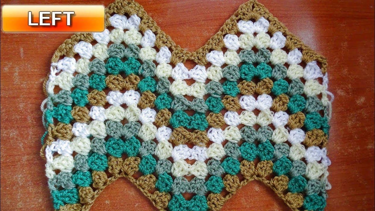 Granny Ripple Stitch Tutorial: Granny Ripple Crochet Stitch