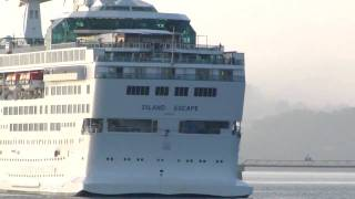 Cruise Ship ISLAND ESCAPE entering in the port of La Coruna