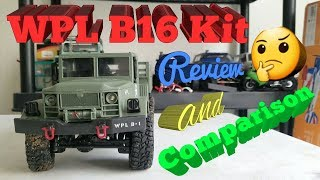 WPL B16 Kit version. Review and comparison.