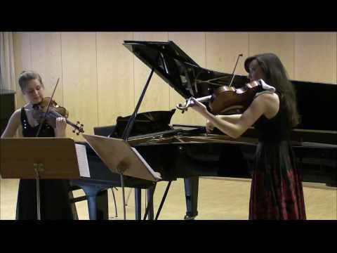 W.A.Mozart: Duo in G-Dur K.423 (Allegro) - Anya Muminovich, viola & Friederike Starkloff,violine