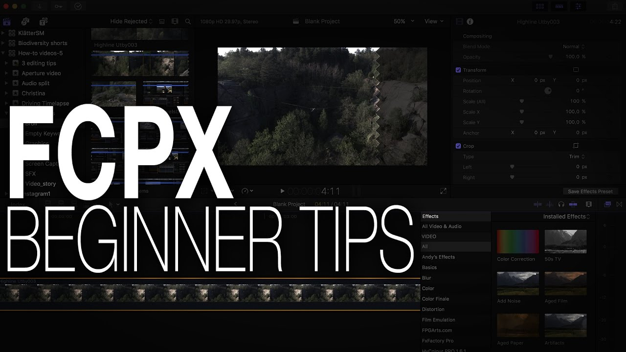 Tutorial: Final Cut Pro tips for BEGINNERS