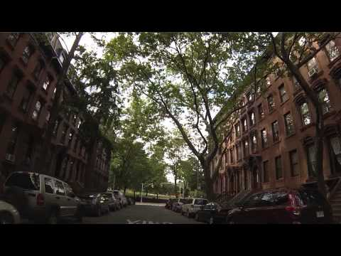 Streets of Fort Greene, Brooklyn - Drive through Clermont, S Portland, S Oxford, Fulton, Navy