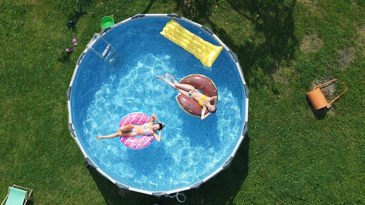 Большой бассейн на даче   Вышка для бассейна
