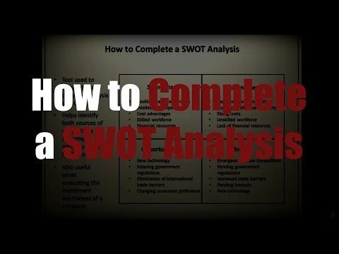 Episode 23: How to Complete a SWOT Analysis