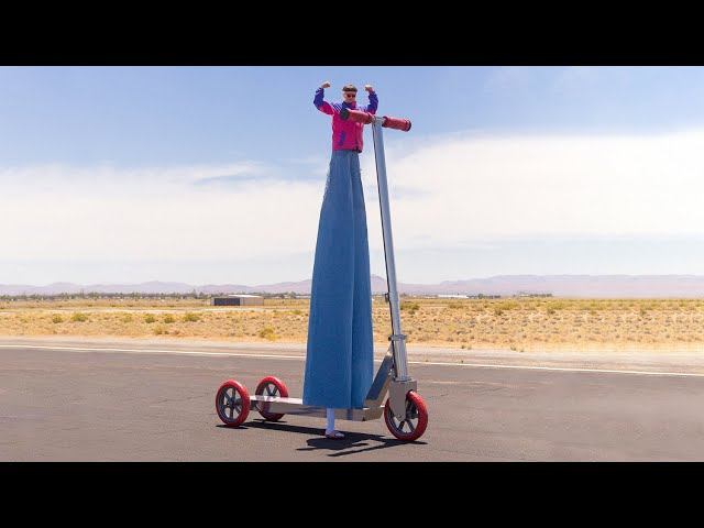 Oliver Tree Attempts to Break Guinness World Record for World's Biggest Scooter [Live Stream] - Oliver Tree