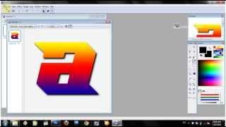 tutorial cara membuat icon folder dengan bentuk huruf