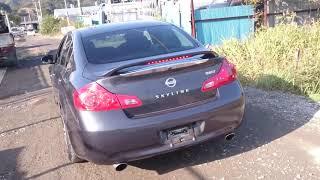 Видео-тест автомобиля Nissan Skyline (PV36-200590, Vq35hr, 2006г)