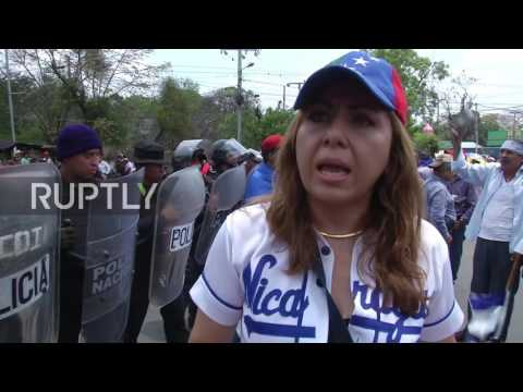 Nicaragua: Farmers protest construction of canal to connect