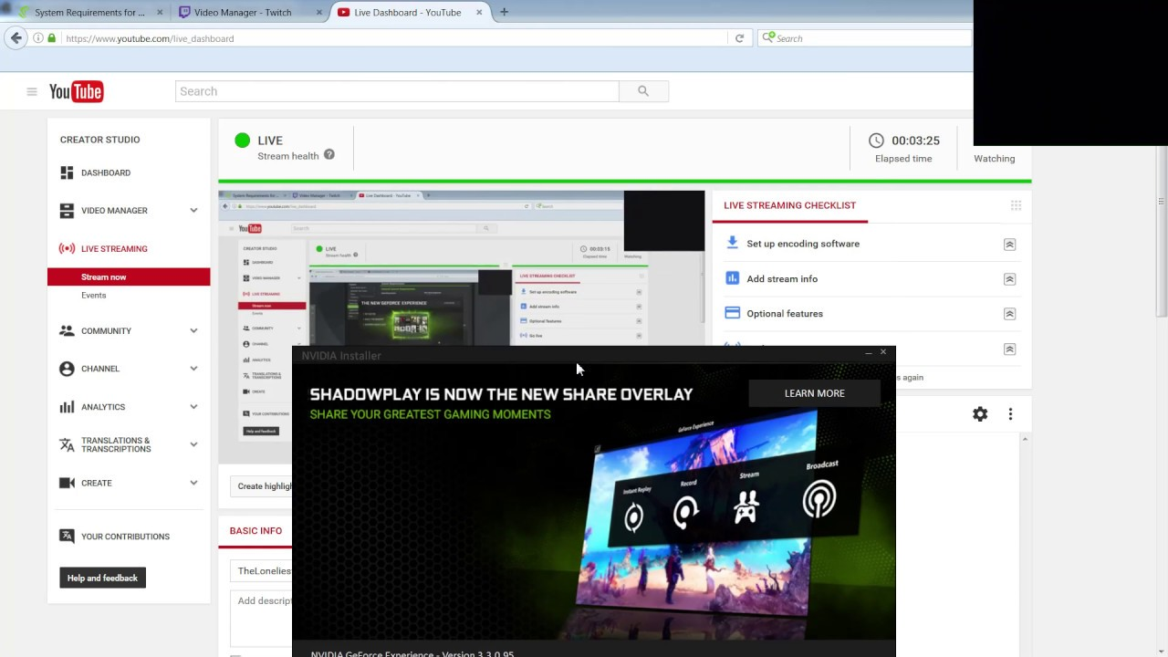 Open Broadcaster Live Stream with NVIDIA NVENC encoder [1080p] [60 FPS]