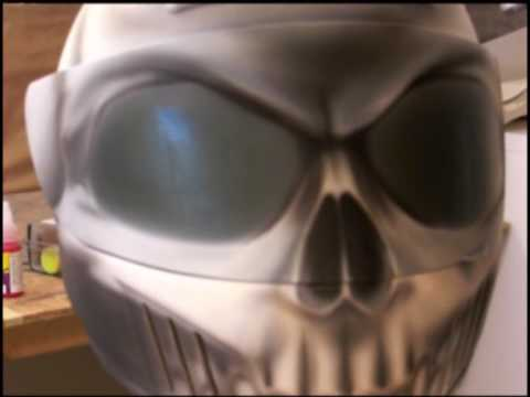 Skull Helmet  (you can see through the visor)