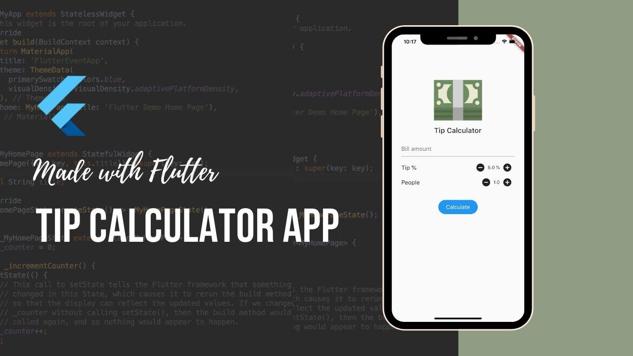 Build a Tip Calculator App with Flutter