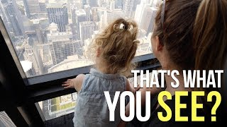 103 Stories Up at Skydeck Chicago - Largest Science Museum in the US - RVing in our Airstream