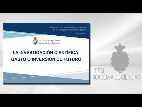 28 de noviembre de 2018.Declaración sobre la financiación y gestiónde la investigación científica en España - Noviembre 2018:http://www.rac.es/7/7_1_1.php?id=347▶ Suscríbete a nuestro canal de YouTubeRAC: https://www.youtube.com/c/RealAcademiadeCien