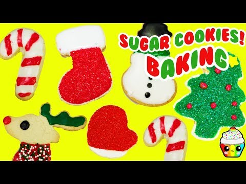DIY CHRISTMAS Sugar Cookies Baking Video Cupcake Kids Club