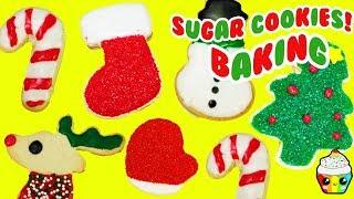 DIY CHRISTMAS Sugar Cookies Baking Video Cupcake Kids Club