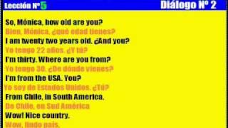 Curso de Inglés. 5. Diálogo Nº 2 thumbnail