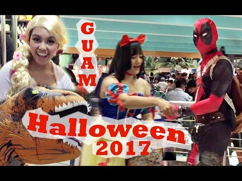 GUAM, Halloween 2017 Micronesia Mall