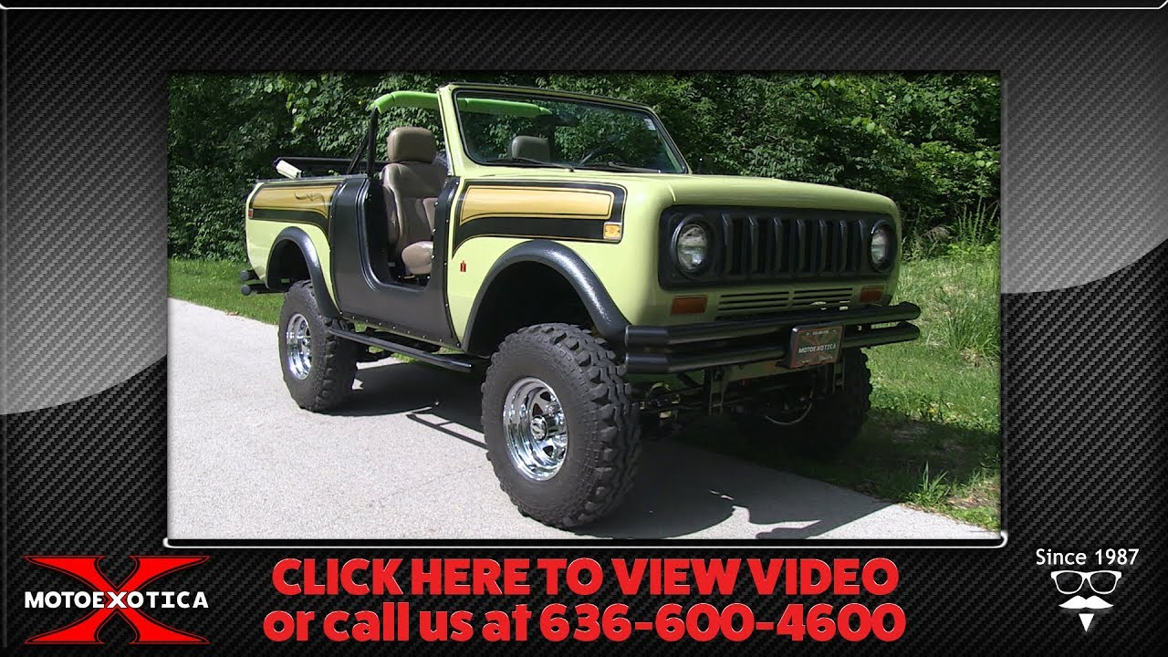 1979 International Harvester Scout SS || For Sale