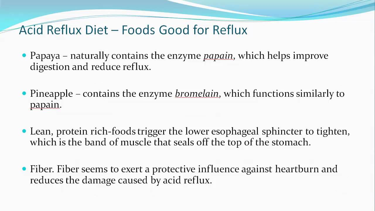 Best Foods For People With Acid Reflux