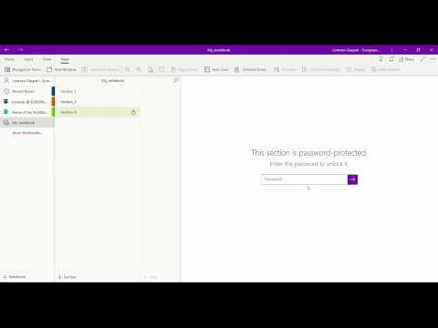 4/32 OneNote Password Protected Section