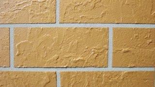 Декоративная штукатурка кирпич. Decorative plaster brick.