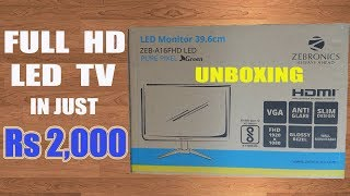 ZEBRONICS FULL HD TV MONITOR - UNBOXING amp OVERVIEW