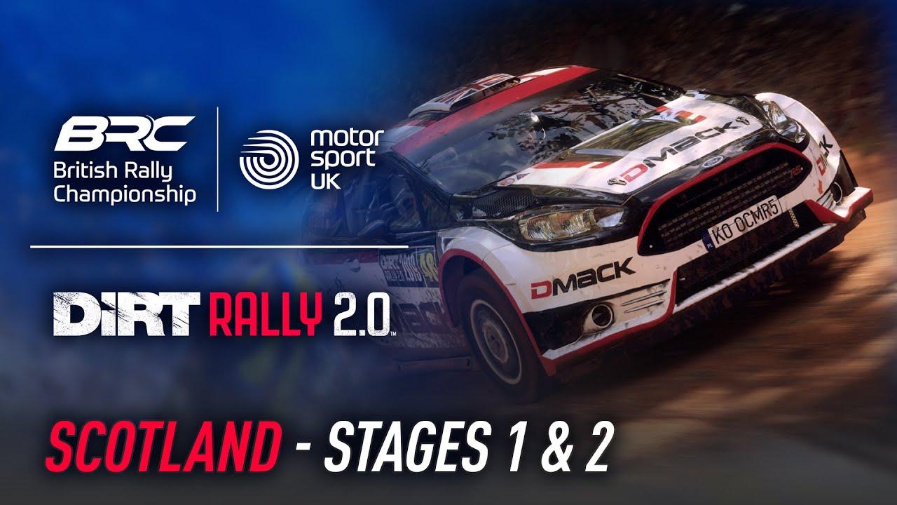 Scotland - Stages 1 & 2 - British Rally Championship Esports Invitational - DiRT Rally 2.0