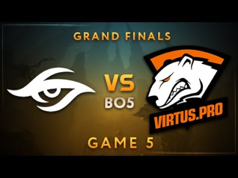 Team Secret vs Virtus.pro Game 5 - Dota Summit 7: Grand Finals