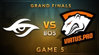 Team Secret vs Virtus.pro Game 5 - Dota Summit 7: Grand Finals