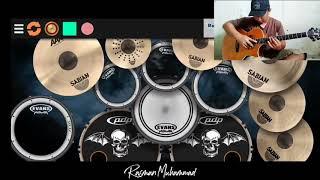 Kasih Ibu Alip Ba Ta Fingerstyle + Real Drum Cover